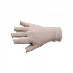 Luva Curta Antiderrapante UV Tam G (Bege) - Sun Cover