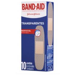 Curativo Band - Aid Transparentes c/ 10 Un