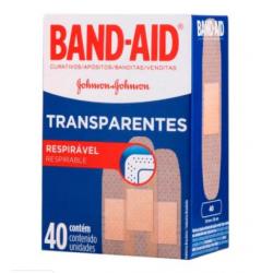 Curativo Band - Aid Transparentes c/ 40 Un