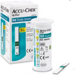 Accu Chek Active c/ 50 tiras reagentes